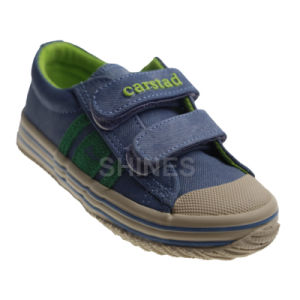 Denim Vulcanized Shoes with Toe Cap for Boy