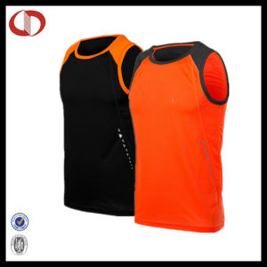 Quick Drying Reflective Print Sport Running Vest pictures & photos