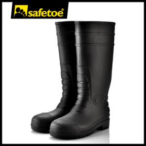 Safety Wellington Rain Boots, Rain Boots Steel Toew-6038 pictures & photos