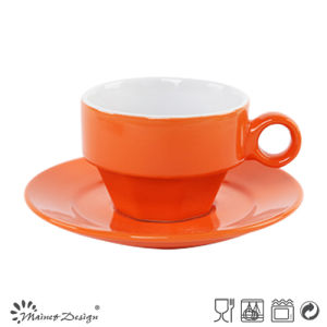 Shinning Glazing Color Cup and Saucer pictures & photos