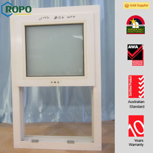 White Color UPVC Frame Horizontal Slider Windows pictures & photos