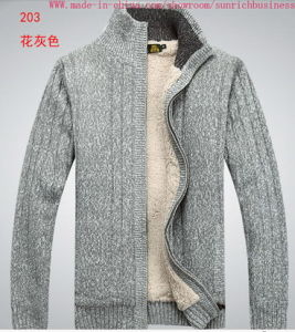 Men′s Knitted Cardigan Sweater (0121) pictures & photos