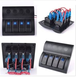 Marine Waterproof Rocker Switch Panel with Blue Light pictures & photos