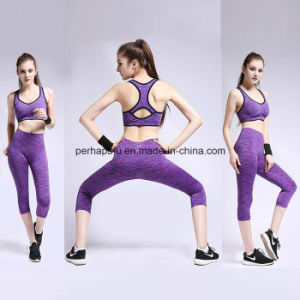 High Quality Comfortable Running Bra and Fitness Shorts Yoga Suit pictures & photos