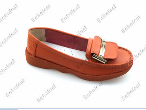 Ladies Comfort Shoes Popular Flat Heel Leather Shoes
