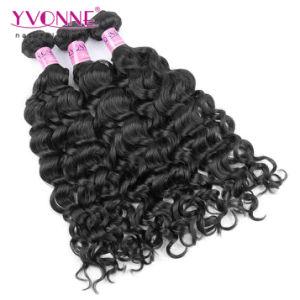 Peruvian Virgin Hair, Fashion Italian Curly Human Hair Weave, Color 1b pictures & photos