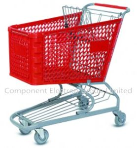 100L 120L 180L Colorful Plastic Supermarket Shopping Cart pictures & photos