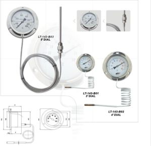 Stainless Steel Capillary Thermometer on Flange pictures & photos
