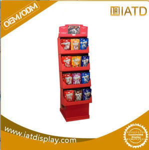 Cardboard Promotional Wall Corrugated Paper Floor Product Display Stand for POS pictures & photos