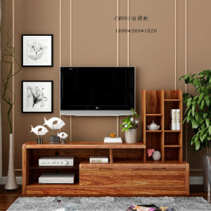 Indian Wooden LCD TV Stand Design with TV Cabinet pictures & photos