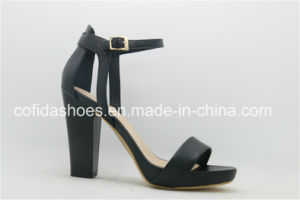 Classic Black High Heel Women Sandal with Sexy Designs pictures & photos