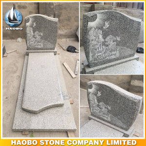 Granite Full Headstone French Tombstone pictures & photos