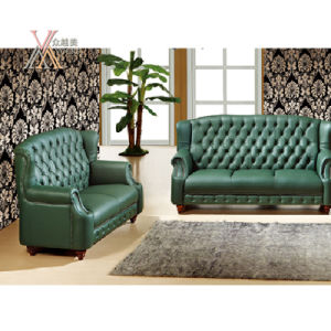 High Back Leather Sofa Set (S23) pictures & photos