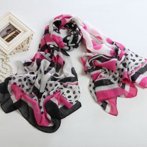 Fashion Autumn Long Polyester Voile Scarf Women Scarves pictures & photos