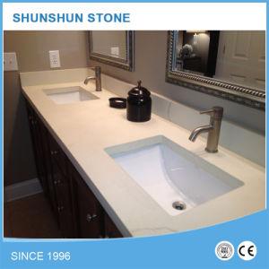 Pure White Quartz Vanity Tops for Bathroom pictures & photos