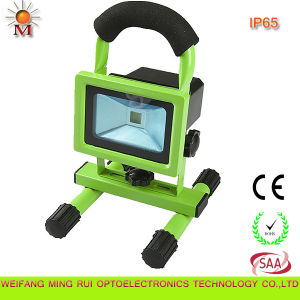 Mr-10W Portable Rechargeable Automotive Caution LED Flood Light with CE/RoHS/SAA pictures & photos