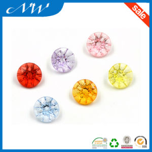 Fancy Colorful Acrylic Button with Tunnel Shank pictures & photos
