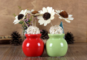 Colorful Ceramic Fragrance Aroma Reed Diffuser Decoration Gift Set with 100ml Perfume Oil for SPA, Hotel, Office, Inn, Home Deco pictures & photos