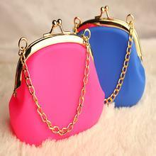 Portable Silicone Cosmetic Pouch with Chains pictures & photos