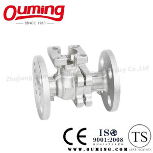 2 PC Split Body Flange Floating Ball Valve pictures & photos