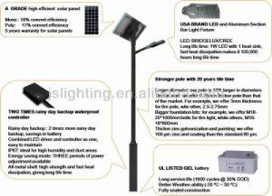 6m 8m 30W 40 60W LED Solar Street Light pictures & photos