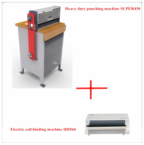 Heavy Duty Electric Punching and Double Wire Binding Machine (SUPER450) pictures & photos