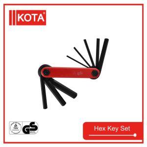 8PCS Hex Key Wrench Set with Black Finish