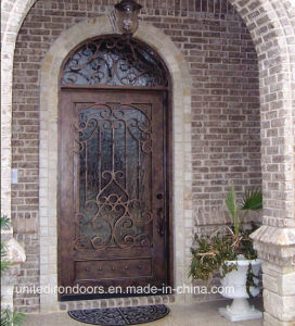 Factory Direct Wrought Iron Single Entry Door (UID-S012) pictures & photos