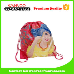 Wholesale Full Custom Printed Cartoon Drawstring Bag Backpack for Girls pictures & photos
