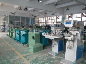Plastic 4-Color Pad Printing Machine with Conveyor Manufacturers pictures & photos