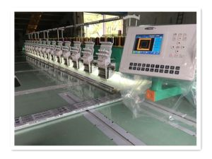 Multi Heads Metal Embroidery Machine for Fabric with 12 Colors pictures & photos