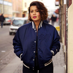 2016 Custom Made Bomber Jacket Satin Women pictures & photos