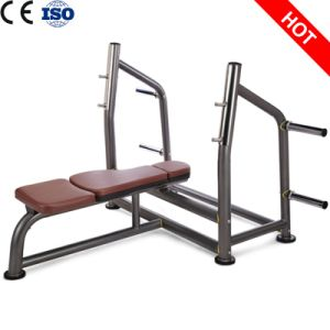 ISO9001 Certificated Fitness Machine Olympic Flat Bench for Gym pictures & photos