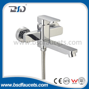 Square Single Handle Bath Shower Mixer Faucet Polished Chromed pictures & photos