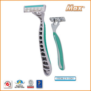 High Quality Three Stainless Steel Blade Disposable Razor (LV-3263) pictures & photos