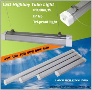 1200mm (4ft) 40W 50W 60W Tri Proof LED Light Fixtures LED High Bay Tube