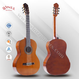 "[Winzz] 39"" Handmade Linden Plywood Body Maple Neck Classical Guitar (ACG160) pictures & photos"