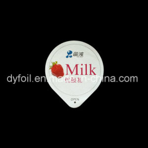 Die Cut Heat Seal Embossed Aluminium Foil Lid for Yogurt Cups pictures & photos