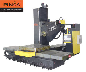 Six Axis Horizontal Boring and Milling Machine Center for Metal-Cutting Hbm-110t2t pictures & photos