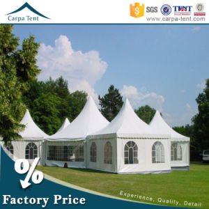 Fashion Design White Canvas Pagoda Dining Tent for 20 Persons pictures & photos