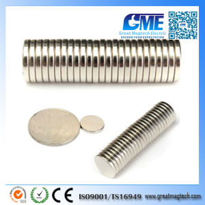 Strong N45 D12X2mm NdFeB Disc Magnet pictures & photos