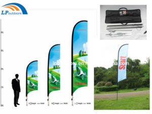 Double Sides Printing Custom Beach Flag (240X60cm) pictures & photos
