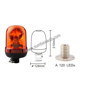 Low Mount High Performance 120 LED Beacon Warning Light (SM803CA)