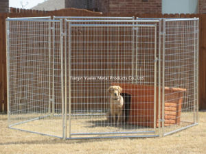 Large Pet Dog Enclosure Run Kennel Chain Link Fence Outdoor Metal Cage pictures & photos
