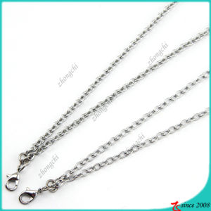 Silver Iron Chain Necklace for Floating Locket (FN16040966)