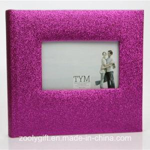 Rose Metalic Paper Wedding Photo Album with Window pictures & photos