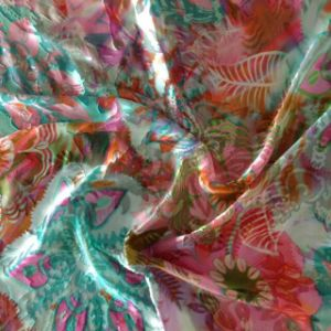 Printed Silk Ggt and Burn-out Silk Opal