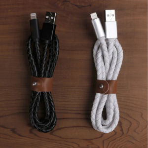 High Quality Braided Leather USB Cable for iPhone 6/6s pictures & photos