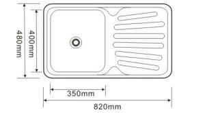Stainless Steel Single Kitchen Drain Board Sink, Kitchen Sink, Handmade Sink, Sink pictures & photos