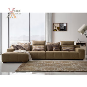 Modern Fashion Living Room Sofa Set with Chaise (1606)